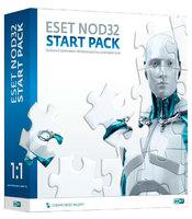 Базовая лицензия Eset NOD32 START PACK- базовый комплект безопасности ПК 1-Desktop 1 year Box (NOD32-ASP-NS(BOX)-1-1)