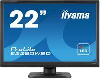 "Монитор Iiyama 22"" ProLite E2280WSD-B1 черный TN+film LED 5ms 16:10 DVI M/M матовая 250cd 178гр/170гр 1680x1050 D-Sub FHD 3.6кг"