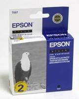 Картридж струйный Epson T007 C13T00740210 черный x2уп. (10мл) для Epson St Ph 870/790/890/900/915/1270/1290