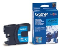 Картридж струйный Brother LC980C голубой для Brother DCP-145C/165C/MFC-250C (260стр.)