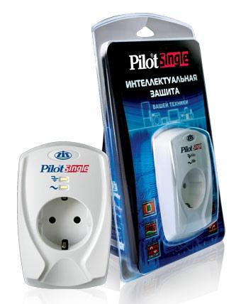 Сетевой фильтр Pilot Single (1 розетка) белый (коробка)