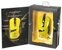Мышь Oklick 865G Snake черный/желтый оптическая (2400dpi) USB игровая (5but)