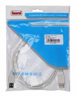 Кабель-удлинитель Buro Reversible USB A(m) USB A(f) 1.8м серый