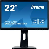 "Монитор Iiyama 21.5"" ProLite B2283HS-B3 черный TN+film LED 1ms 16:9 HDMI M/M матовая HAS Pivot 1000:1 250cd 170гр/160гр 1920x1080 D-Sub DisplayPort FHD 4.8кг"