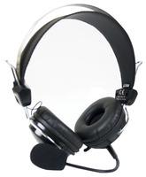 Наушники с микрофоном A4 HS-7P черный 2.5м накладные оголовье