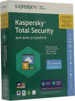 ПО Kaspersky Total Security - Multi-Device Rus 2 devices 1 year Renewal Box (KL1919RBBFR)