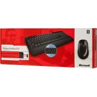 Клавиатура + мышь Microsoft 2000 клав:черный мышь:черный USB беспроводная Multimedia