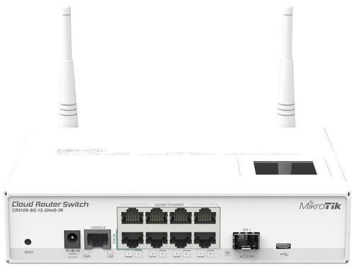 Коммутатор MikroTik CRS109-8G-1S-2HND-IN 8G 1SFP управляемый
