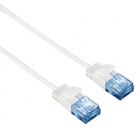 Патч-корд Hama Slim-Flexible UTP 4 пары cat6 1.5м белый RJ-45 (m)-RJ-45 (m)