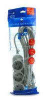 Сетевой удлинитель Powercube PC-Y-5-32-5 5м (5 розеток) серый (пакет ПЭ)