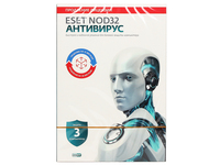 ПО Eset NOD32 Антивирус - лиц на 1год или прод на 20мес 3-Desktop (NOD32-ENA-2012RN(BOX)-1-1)