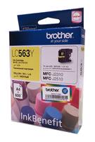 Картридж струйный Brother LC563Y желтый (600стр.) для Brother MFC-J2510