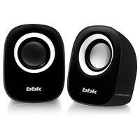 Колонки BBK CA-303S 2.0 черный/белый 3Вт