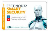 ПО Eset NOD32 Smart Security - лиц на 1год или прод на 20мес 3-Desktop Card (NOD32-ESS-1220(CARD3)-1-1)