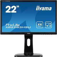 "Монитор Iiyama 21.5"" ProLite XB2283HSU-B1DP черный VA LED 5ms 16:9 DVI M/M матовая HAS Pivot 12000000:1 250cd 178гр/178гр 1920x1080 D-Sub DisplayPort FHD USB 4.9кг"