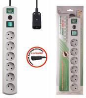 Сетевой фильтр Most RG-U 1.5м (6 розеток) белый (коробка)