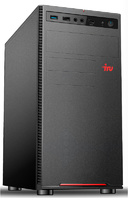 ПК IRU Home 223 MT Ryzen 3 2200G (3.5)/4Gb/1Tb 7.2k/RX Vega 8/Windows 10 Professional 64/GbitEth/400W/черный