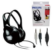 Наушники с микрофоном Philips SHM1900/00 черный 2м мониторы оголовье