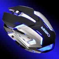 Мышь Oklick 855G CYBER черный/серебристый оптическая (2400dpi) USB игровая (5but)