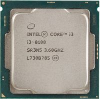 Процессор Intel Original Core i3 8100 Soc-1151v2 (CM8068403377308S R3N5) (3.6GHz/Intel UHD Graphics 630) OEM