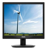 "Монитор Philips 17"" 17S4LSB (00/01) черный TN+film LED 5ms 5:4 DVI матовая 250cd 1280x1024 D-Sub HD READY 3.54кг"