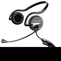Наушники с микрофоном Plantronics A345 черный 2.5м накладные шейный обод (37855-02)