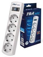 Сетевой фильтр Pilot mini 7м (4 розетки) белый (коробка)