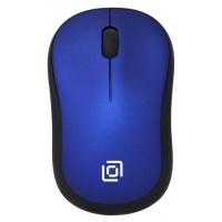Мышь Oklick 655MW черный/синий оптическая (1000dpi) беспроводная USB (3but)