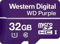 Флеш карта microSDHC 32Gb Class10 WD WDD032G1P0A Purple w/o adapter