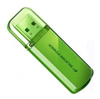 Флеш Диск Silicon Power 16Gb Helios 101 SP016GBUF2101V1N USB2.0 зеленый