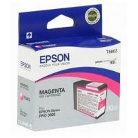 Картридж струйный Epson T5803 C13T580300 пурпурный (80мл) для Epson St Pro 3800