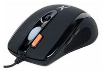 Мышь A4 X-710BK черный оптическая (2000dpi) USB игровая (6but)