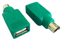 Переходник PS/2 (m) USB A(f) зеленый