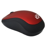 Мышь Oklick 655MW черный/красный оптическая (1000dpi) беспроводная USB (3but)