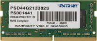 Память DDR4 4Gb 2133MHz Patriot PSD44G213382S RTL PC4-17000 CL15 SO-DIMM 260-pin 1.2В