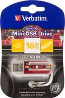 Флеш Диск Verbatim 16Gb Mini Cassette Edition 49398 USB2.0 красный/рисунок