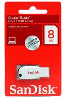 Флеш Диск Sandisk 8Gb Cruzer Blade SDCZ50C-008G-B35W USB2.0 белый