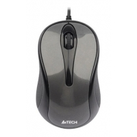 Мышь A4 V-Track Padless N-360-1 серый оптическая (1000dpi) USB (2but)
