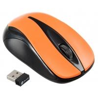 Мышь Oklick 675MW черный/оранжевый оптическая (800dpi) беспроводная USB (2but)