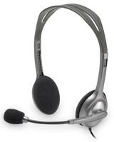 Наушники с микрофоном Logitech Stereo H110 серебристый 1.8м накладные оголовье (981-000271)