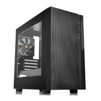 Корпус Thermaltake Versa H18 Window черный без БП mATX 2xUSB2.0 1xUSB3.0 audio bott PSU