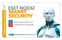 ПО Eset NOD32 Smart Security Family - универ лиц продл на 20 мес или новая на 3 devices 1 year Card (NOD32-ESM-1220(CARD)-1-3)