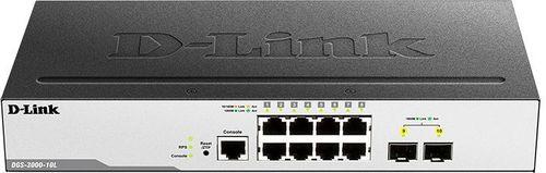 Коммутатор D-Link DGS-3000-10L/B1A 8G 2SFP управляемый