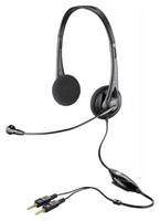 Наушники с микрофоном Plantronics Audio 326 черный 1.7м накладные оголовье (80933-15)