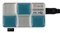 Устройство чтения карт памяти USB2.0 PC Pet CR-217CBL голубой