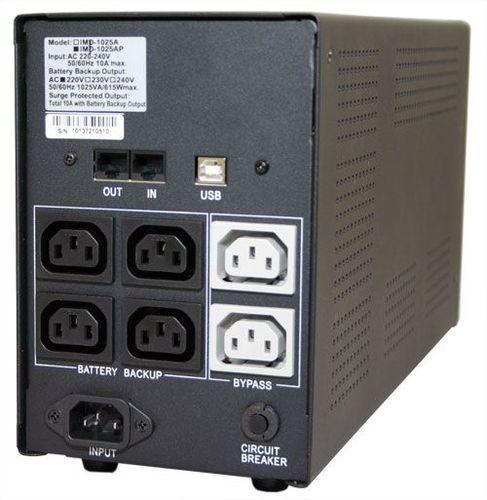 Источник бесперебойного питания Powercom Imperial IMP-1025AP 615Вт 1025ВА черный