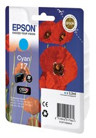 Картридж струйный Epson T1702 C13T17024A10 голубой (3.2мл) для Epson XP33/203/303