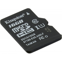 Флеш карта microSDHC 16Gb Class10 Kingston SDCS/16GBSP w/o adapter