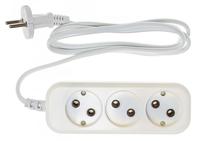 Сетевой удлинитель Buro BU-PSL3.1/W 1.5м (3 розетки) белый (пакет ПЭ)