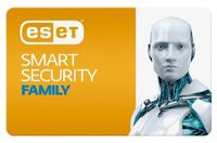 ПО Eset NOD32 Smart Security Family 3 devices 1 year Renewal Card (NOD32-ESM-RN(CARD)-1-3)